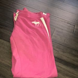 Pink Abercrombie Sweatpants